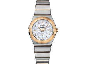 Omega Constellation White Mother of Pearl Dial Ladies Watch 12320272055003