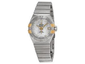Omega Constellation Co-Axial Mother of Pearl Steel Ladies Watch 12320272055005