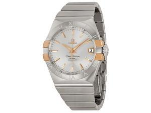 Omega Constellation Co-Axial Steel and Rose Gold Mens Watch 12320382102004