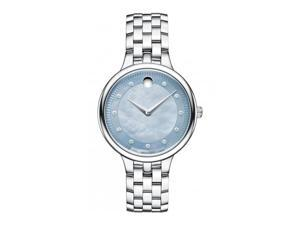 Movado Trevi Gray Mother of Pearl Dial Stainless Steel Ladies Watch 0606811