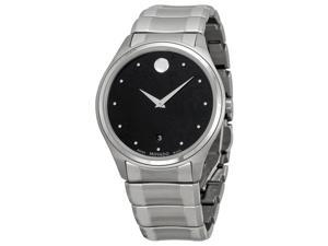 Movado Celo Black Dial Stainless Steel Mens Watch 0606839