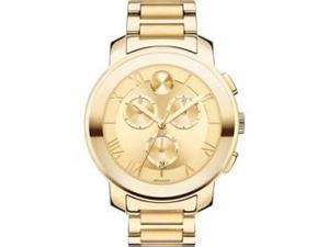 Movado Bold Champagne Dial Gold Ion-plated Ladies Watch 3600209