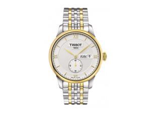 Tissot Le Locle Automatic White Dial Two-tone Mens Watch T0064282203801