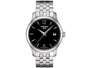 Tissot T-Classic Tradition Black Dial Steel Ladies Watch T0632101105700