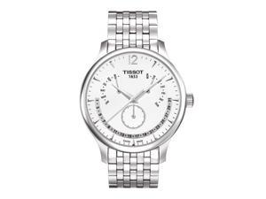 Tissot T-Classic Tradition Multi-Function White Dial Steel Watch T0636371103700