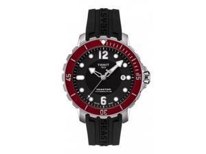Tissot T-Sport Seastar 1000 Black Dial Black Rubber Mens Watch T0664071705703