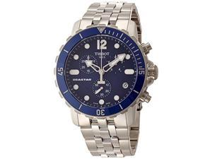 Tissot Seastar Chronograph Blue Dial Stainless Steel Mens Watch T0664171104700