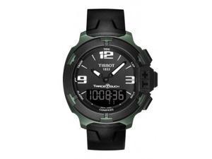 Tissot T-Race Touch Black Dial Black Rubber Mens Watch T0814209705701