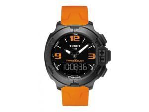 Tissot T-Race Touch Black Dial Orange Rubber Mens Watch T0814209705702