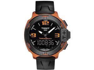 Tissot T-Race Touch Black Dial Orange Rubber Mens Watch T0814209705703
