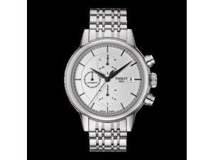 Tissot Carson Silver Dial Stainless Steel Mens Watch T0854271101100