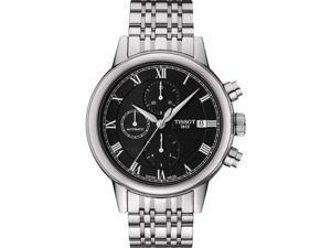 Tissot Carson Automatic Chronograph Black Dial Steel Mens Watch T0854271105300