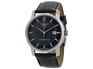 Tissot Classic Black Dial Black Leather Mens Watch T0874074605700