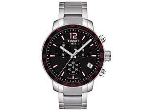 Tissot Quickster Chronograph Black Dial Steel Mens Watch T0954171105700