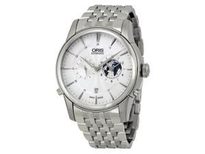 Oris Artelier GMT Automatic Silver White Dial Steel Mens Watch 690-7690-4081MB