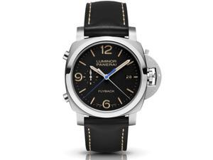 Panerai Luminor 1950 3 Days Chrono Flyback Black Dial Mens Watch PAM00524