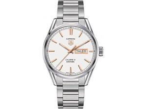 Tag Heuer Carrera Silver Dial Stainless Steel Mens Watch WAR201DBA0723