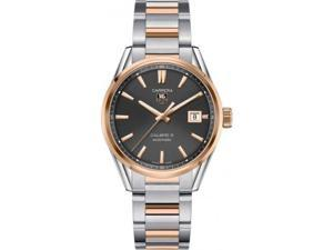 Tag Heuer Carrera Calibre 5 Anthracite Dial Steel Rose Gold Watch WAR215EBD0784