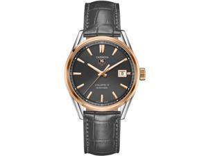 Tag Heuer Carrera Anthracite Dial Brown Leather Mens Watch WAR215EFC6336