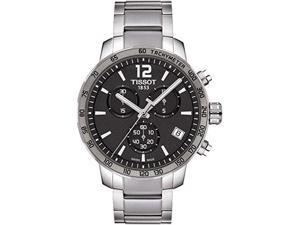 Tissot Quickster Chronograph Anthracite Dial Steel Mens Watch T0954171106700
