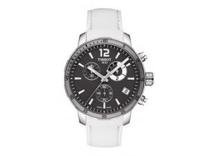 Tissot Quickster Soccer World Cup Black Dial White Silicone Watch T0954491706700