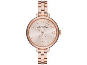 Marc by Marc Jacobs Sally Rose Dial Rose Gold-tone Ladies Watch MBM3364