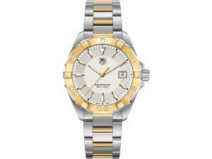 Tag Heuer Aquaracer Silver Dial Steel with 18kt Yellow Gold Watch WAY1151.BD0912
