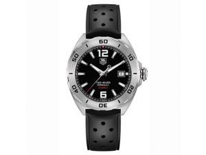 Tag Heuer Formula 1 Automatic  Black Dial Black Rubber Mens Watch WAZ2113FT8023