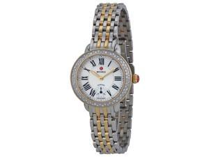 Michele Serein Mother of Pearl Dial Steel Yellow Gold-plated Watch MWW21E000007