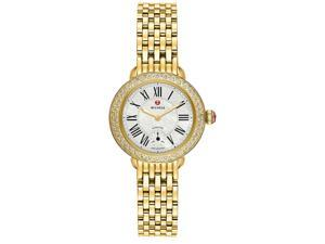 Michele Serein 12 Mother of Pearl Gold Tone Steel Ladies Watch MWW21E000013