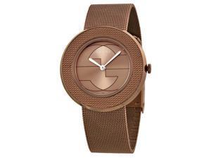 Gucci U-Play Brown Dial PVD Stainless Steel Ladies Watch YA129445