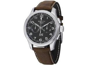 Zenith Big Pilot Chronograph Black Dial Brown Leather Watch 0324104010.21C722