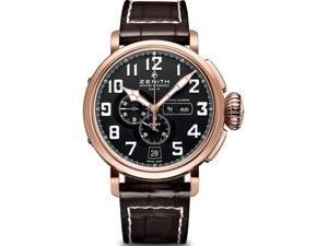 Zenith Pilot Montre D Aeronef Black Dial Brown Leather Watch 872430405421C721