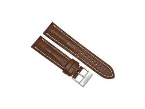 Breitling Brown Crocodile Leather 22mm - 20mm Strap with Stainless Steel Buckle