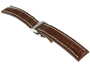 Breitling Brown Crocodile Leather Watch Stap 740P