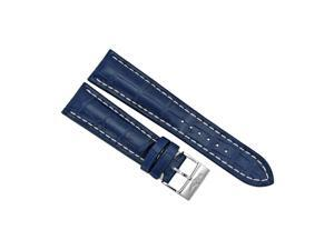 Breitling Blue Crocodile Leather 24 mm - 20 mm Strap with Steel Tang Clasp
