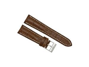 Breitling Brown Crocodile Leather 24 mm - 20 mm Strap with Steel Tang Clasp