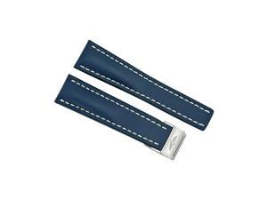 Breitling Leather Strap 24 mm - Blue