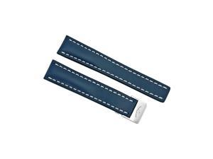 Breitling Leather Strap 20 mm - Blue