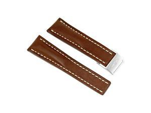 Breitling Brown Leather Strap 24 mm 444X-A20D.1
