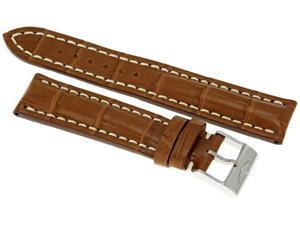 Breitling Brown Crocodile 20 MM Leather Strap 722P