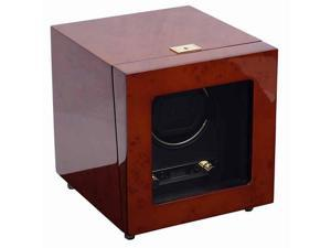 Wolf Savoy Burlwood Single Watch Winder with Cover 454410