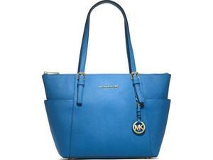 Michael Kors Jet Set Saffiano Leather East West Top Zip Tote - Heritage Blue