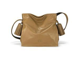 Loewe Flamenco 22 Mink Light Leather Drawstring Handbag