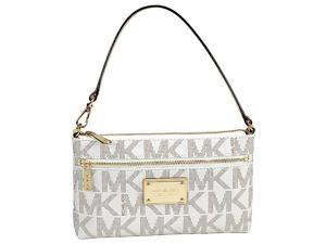 Michael Kors Jet Set Large Wristlet in Vanilla - Cream