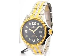 Mens Croton Steel Automatic Two Tone Date Watch CA301193TTBK