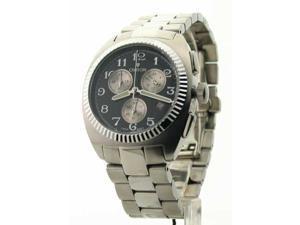 Mens Croton Steel Chrono 3 Eye Date Watch CC311293SSBK