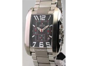 Mens Croton Steel Chronograph Date Watch CC311142SSBK