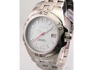 Mens Croton Steel Swiss 10 Atm Date New Watch CA301149SSDW