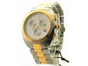 Mens Croton Steel Two Tone Chrono 3 Eye Date Watch CC311293TTDW